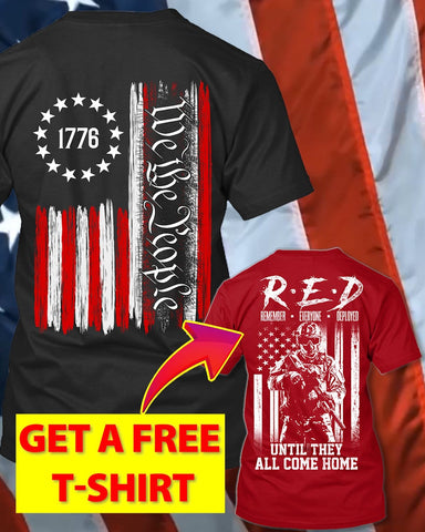 1776 We The People Trump Political T-Shirt (Free R.E.D T-Shirt)
