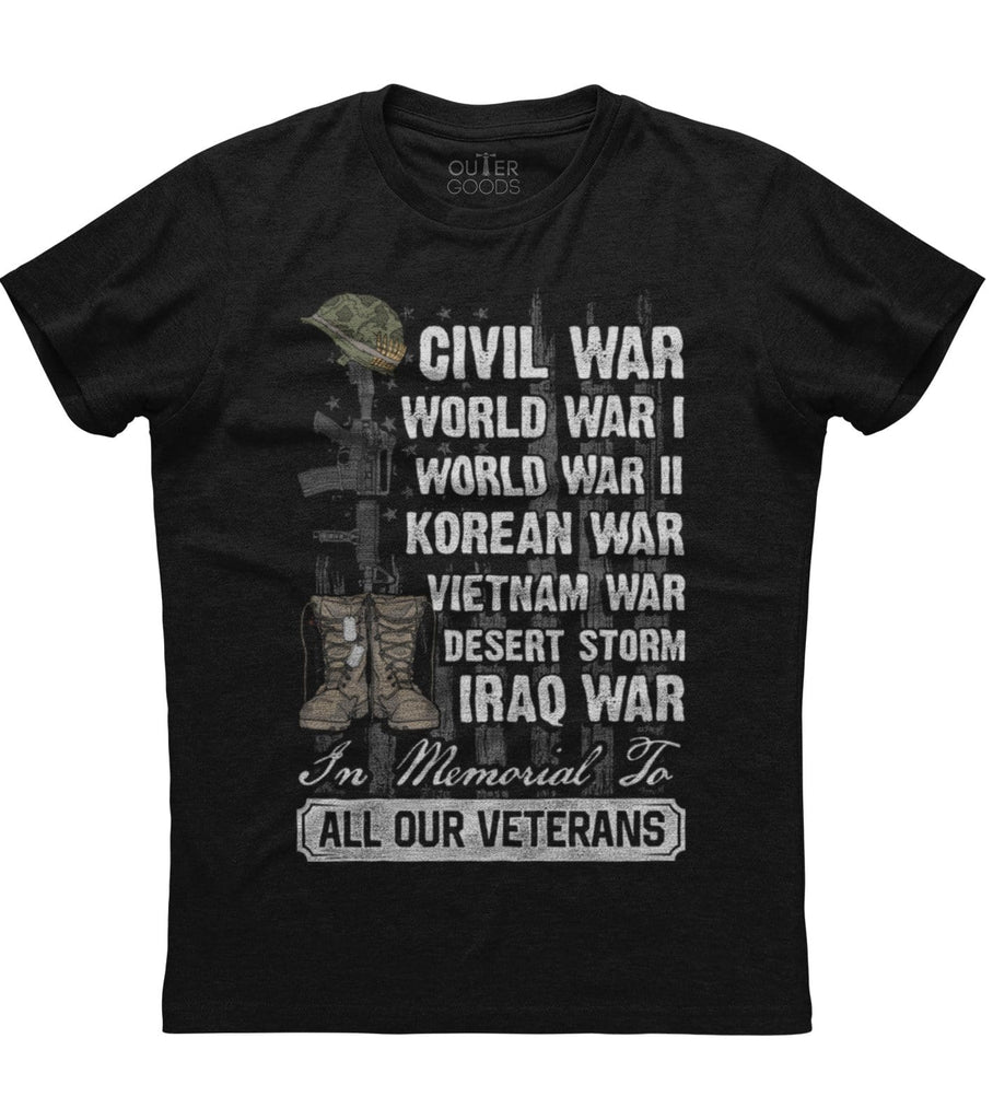 In Memorial To All Our Veterans T-Shirt (O)