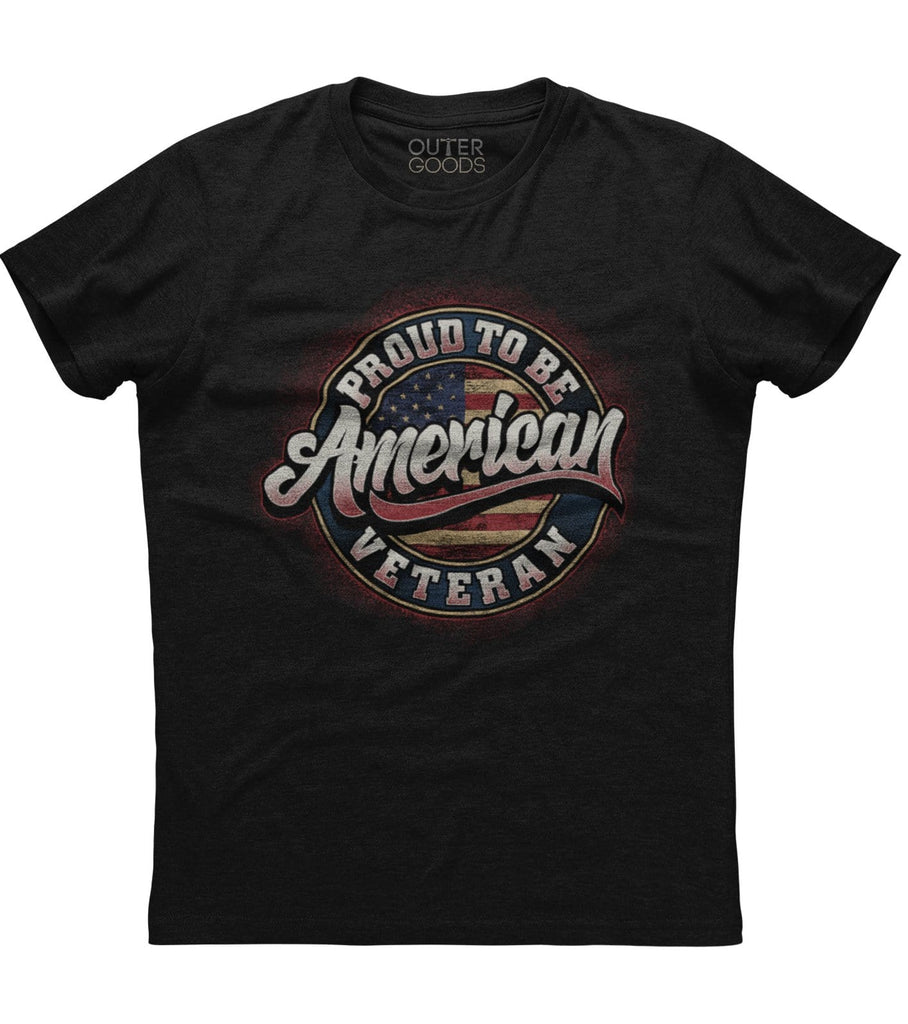 Proud To Be American Veteran T-Shirt (O)