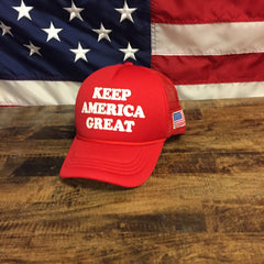 Donald Trump 2020 Keep America Great American Flag Red Hat