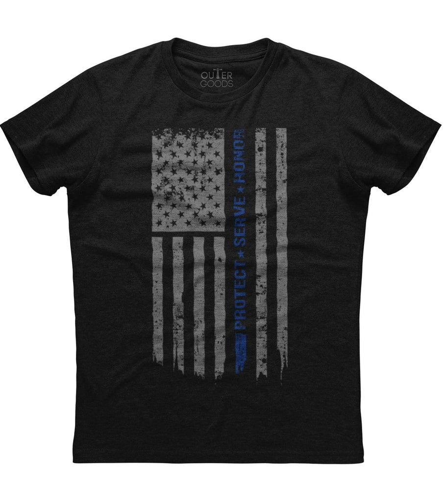 Back The Blue Protect Serve Honor T-shirt (O)