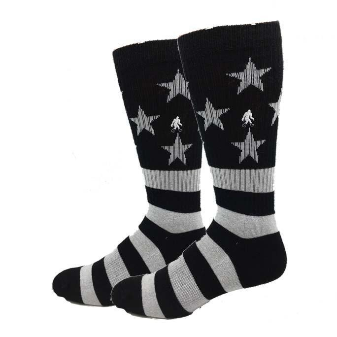 Active Black & White USA Socks
