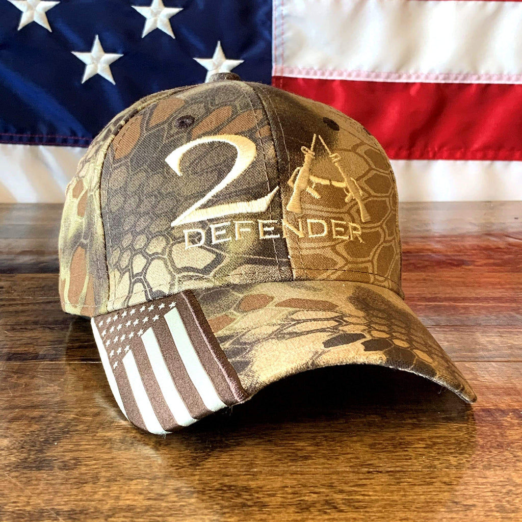 2nd Amendment 2A Defender Authentic Kryptek Camo Hat (O)