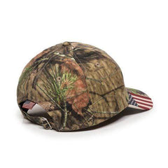 Donald Trump 2020 Mossy Oak USA Flag Camo Cap