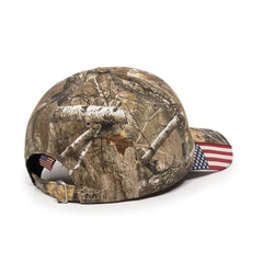 President Donald Trump 2020 Real Tree U.S.A Flag Camo Hat