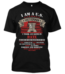 Veteran Enlistment Date T-Shirt (CN)