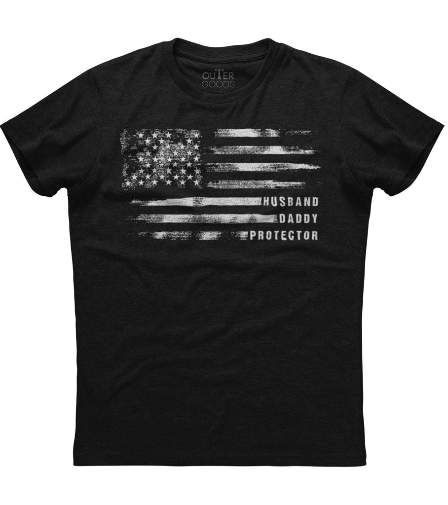 American Flag Husband Daddy Protector T-Shirt (FD20)