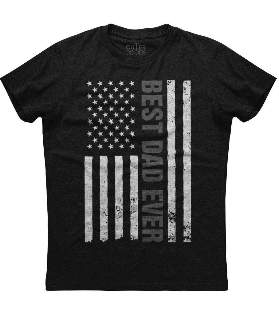 American Flag Best Dad Ever T-Shirt (O)