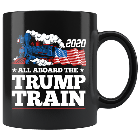 Donald Trump 2020 All Aboard The Trump Train Mug