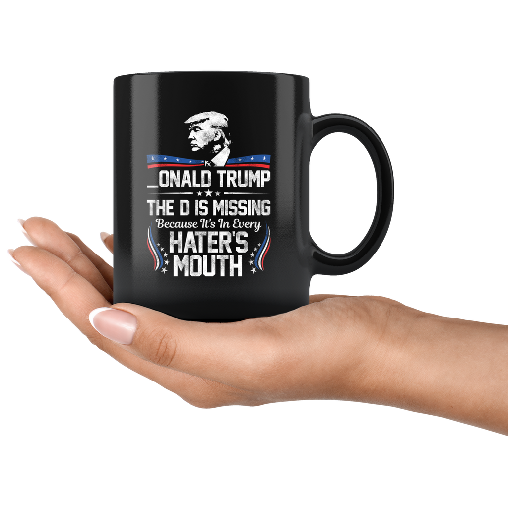 D in Hater's Mouth Mug