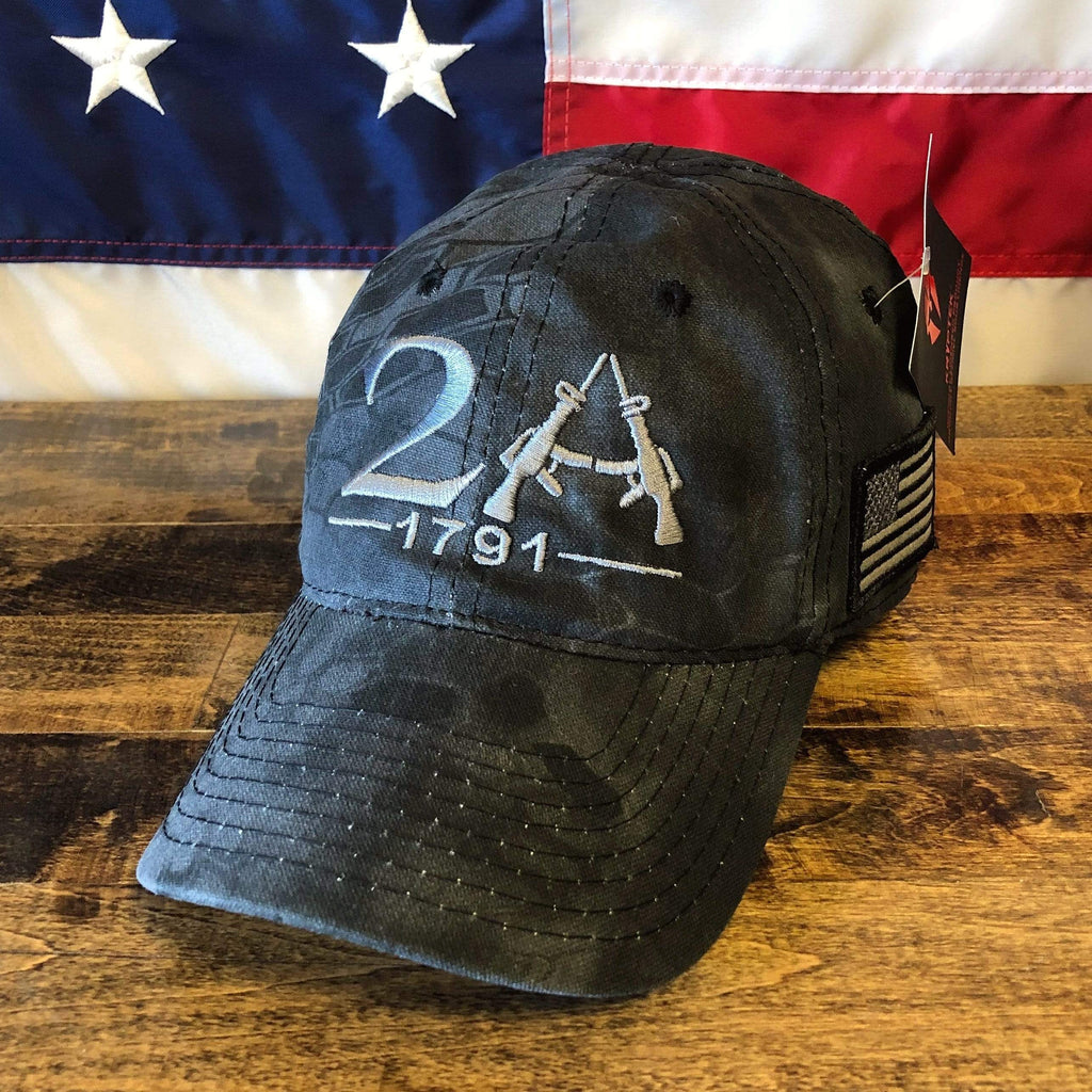 2nd Amendment American Flag Patch Black Hat (D)