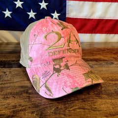 2nd Amendment Protect 2A Pink RealTree Hat (BS)