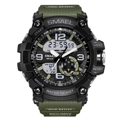 Military Digital Analog Watch