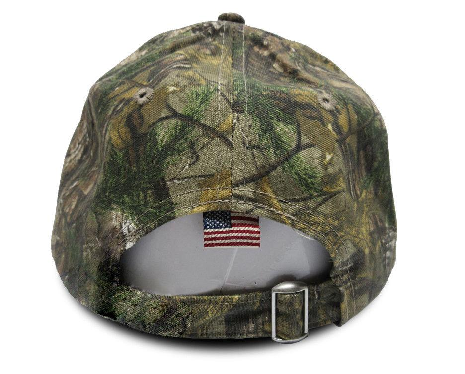 Trump 2020 Real Tree USA Flag Camo Hat