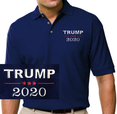 Donald Trump 2020 Embroidered Blue Polo