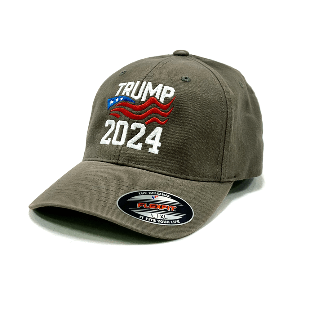 Trump 2024 Flexfit Fitted Hat (O)