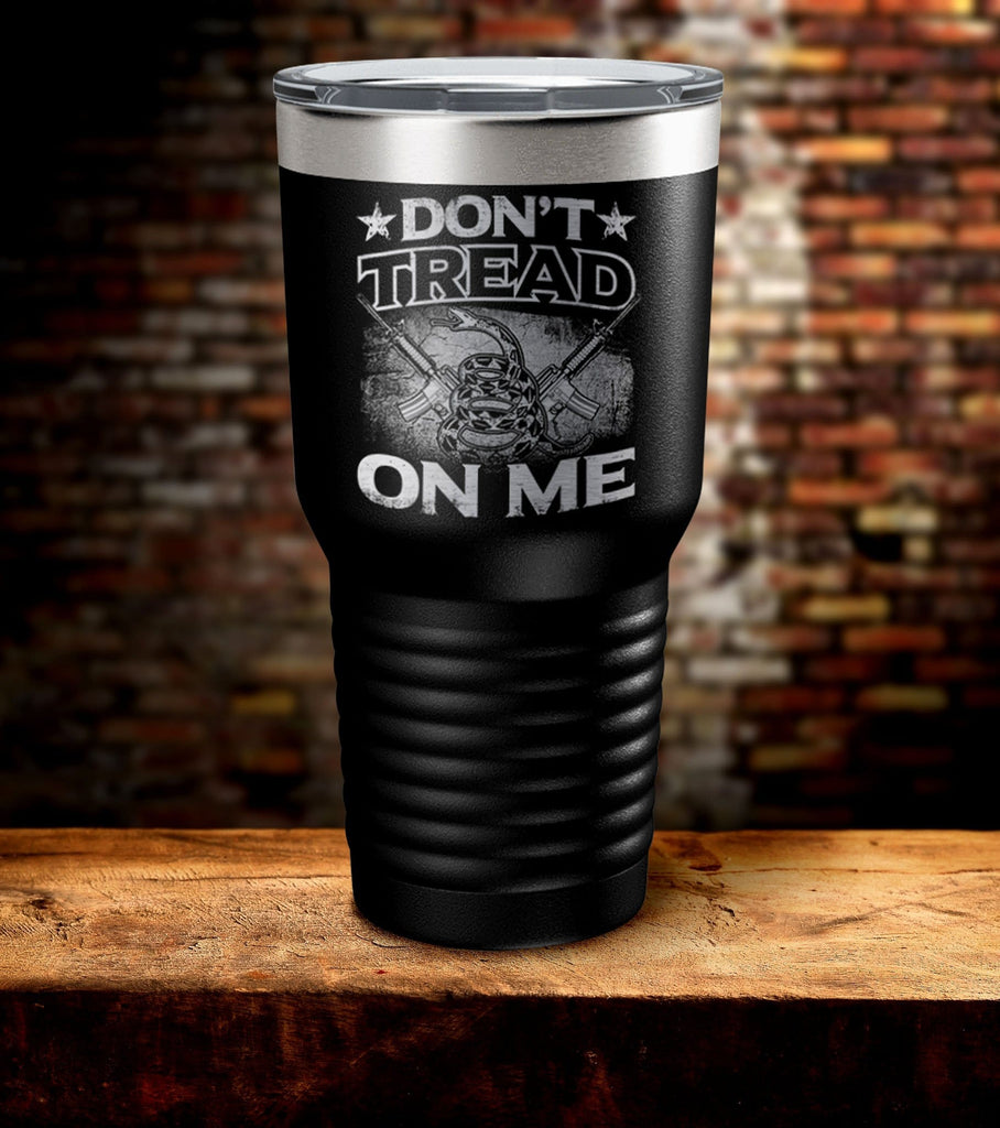 Don't Tread On Me Guns Tumbler