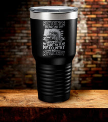 Six Things You Don't Mess With My Faith, Family, Guns, Flag, Country & Liberty Tumbler