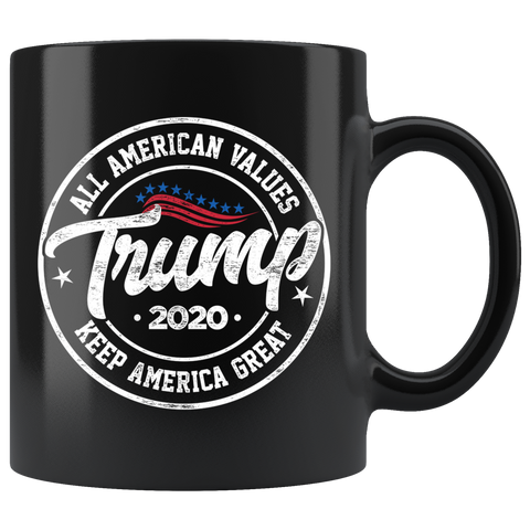 All American Values Trump 2020 Mug