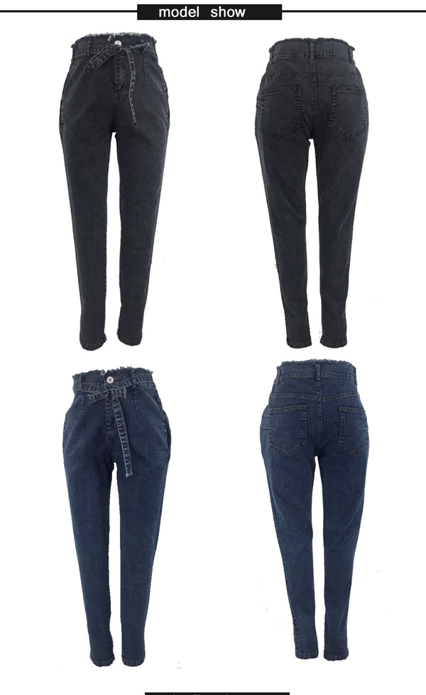 High Waist Jeans Slim Stretch Denim Pushup