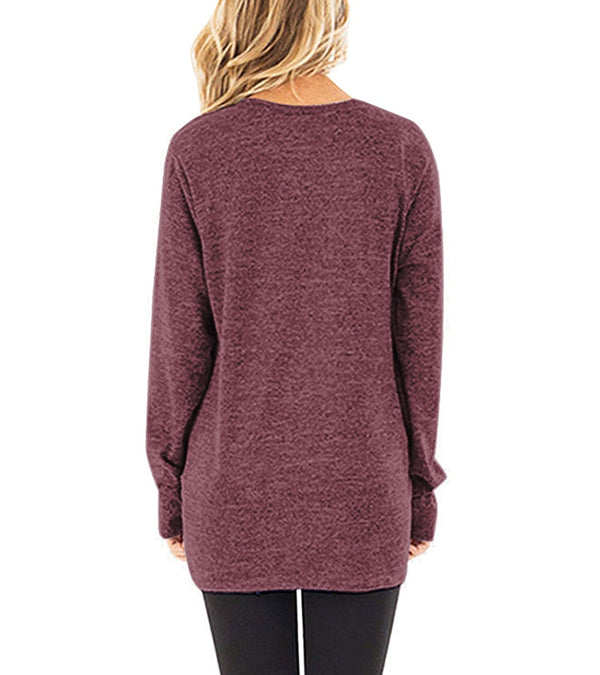 long sleeve women t shirt casual o-neck slim