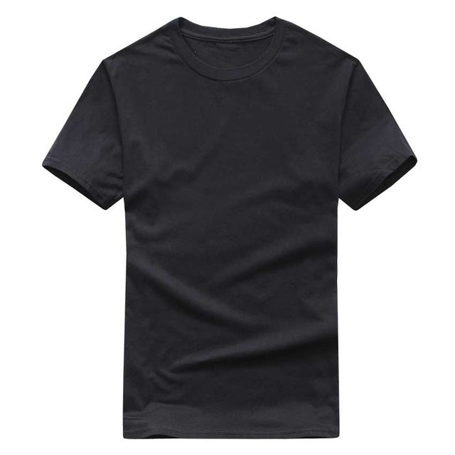 Solid Color T-Shirt Cotton T-shirts Unisex
