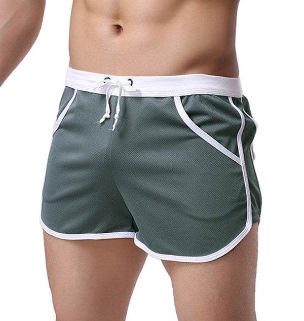 Quick Dry  Men's Classic Casual Shorts Household Man Shorts G Pocket Straps Inside Trunks Beach Shorts