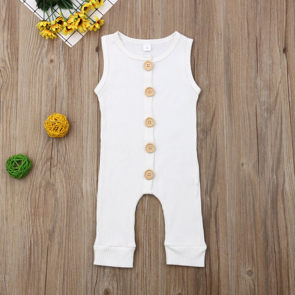 Newborn Baby Boy Girl Knitting Cotton  Sleeveless Romper Clothes Outfits T-Shirt Long Pants And Hat 3Pcs