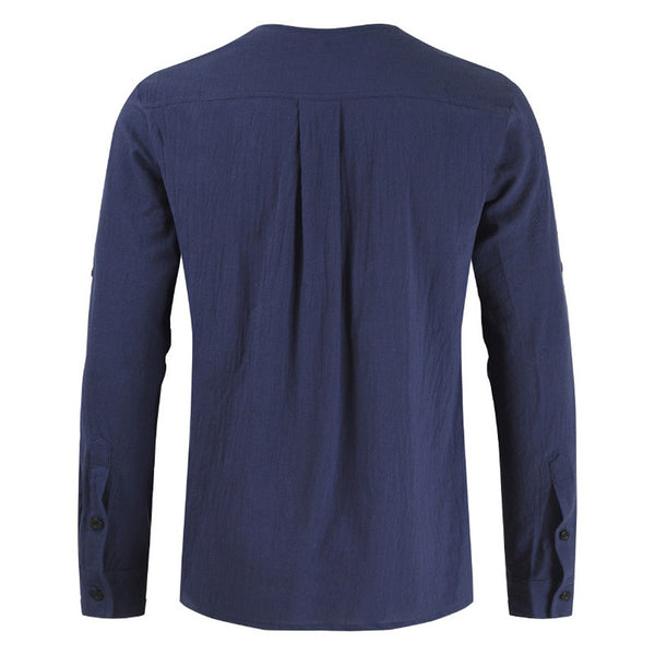 Men's Drawstring Long Sleeve Shirt