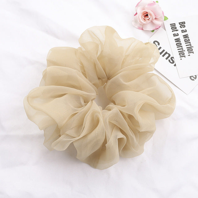 Hair scrunchie for women elastic hair band tie