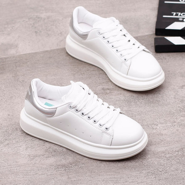 Spring Designer Wedges White Shoes Female Platform Sneakers Women Tenis Feminino Casual Female Woman Trainers Mcqueens Shoes