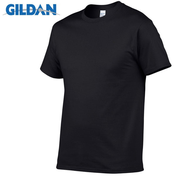 Gildan Solid Color T Shirt Men Boys 100% Cotton
