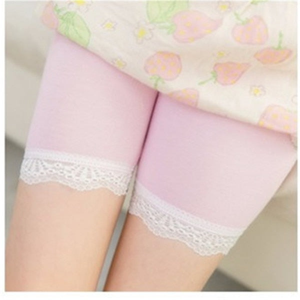 High Quality Girl Short Leggings Girls Lace Briefs Short Pants For Children