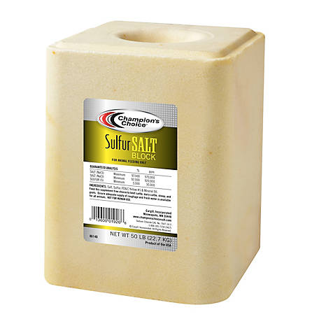Sulfur Salt Block 50 lb