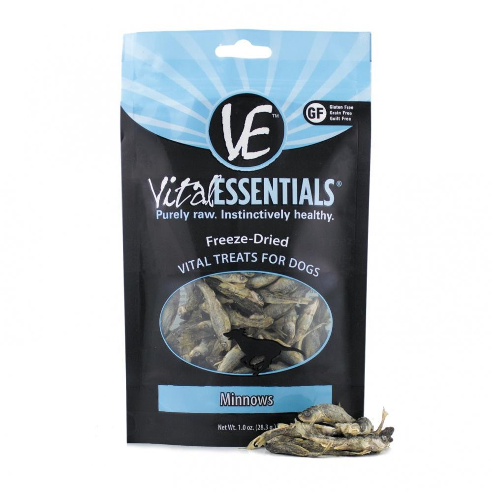 Vital Essentials Freeze Dried Grain Free Minnows Treats for Dogs
