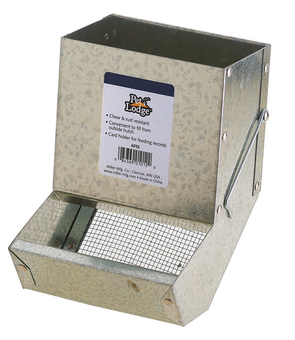 Metal Small Animal Feeder with Sifter Bottom