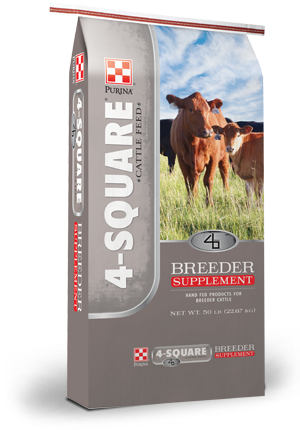 Purina 4-Square Breeder Performance Cattle Cubes 20%