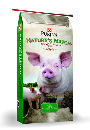 Purina Nature's Match Sow & Pig Feed