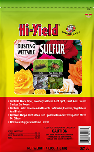 Hi-Yield Dusting Wettable Sulfure