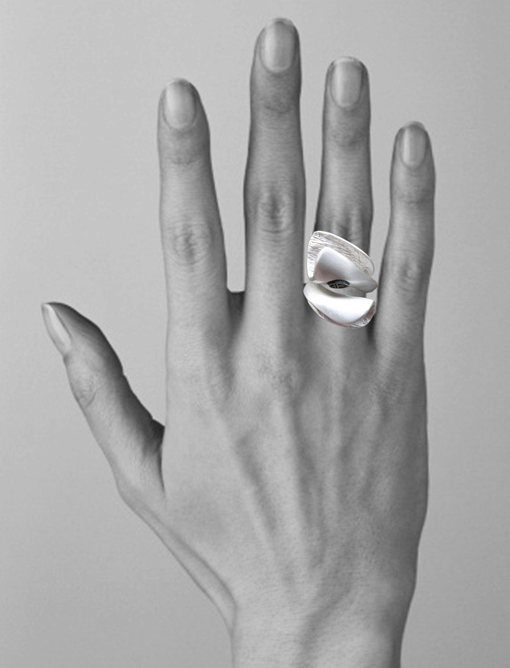 full finger ring Large ring long contemporary ring Long Statement Ring size 7 34