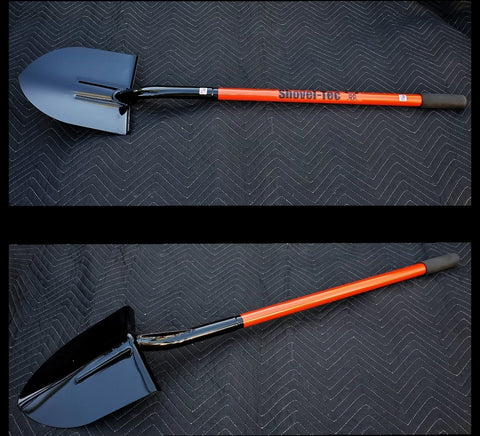"Custom Flame Orange ""TRAIL"" Spade Shovel"
