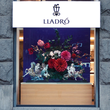 Lladro wind display paper flowers