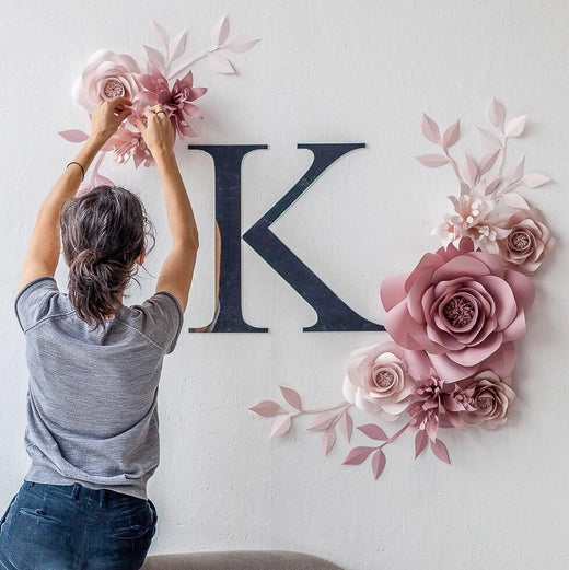 Paper Flowers Wall Decor Nursery