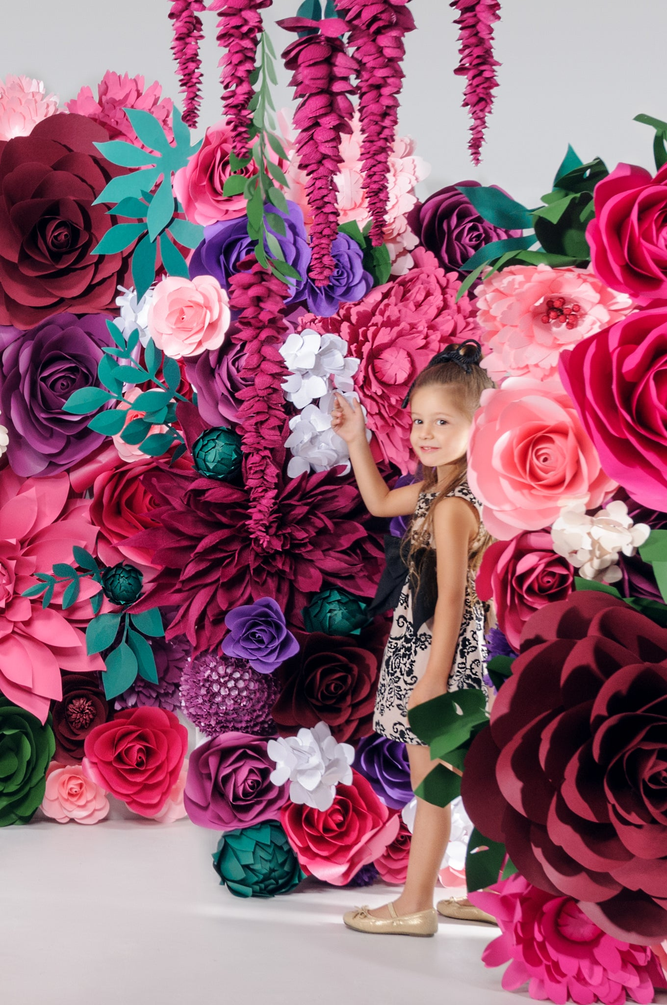 Nika in Wonderland Paper Flower Wall