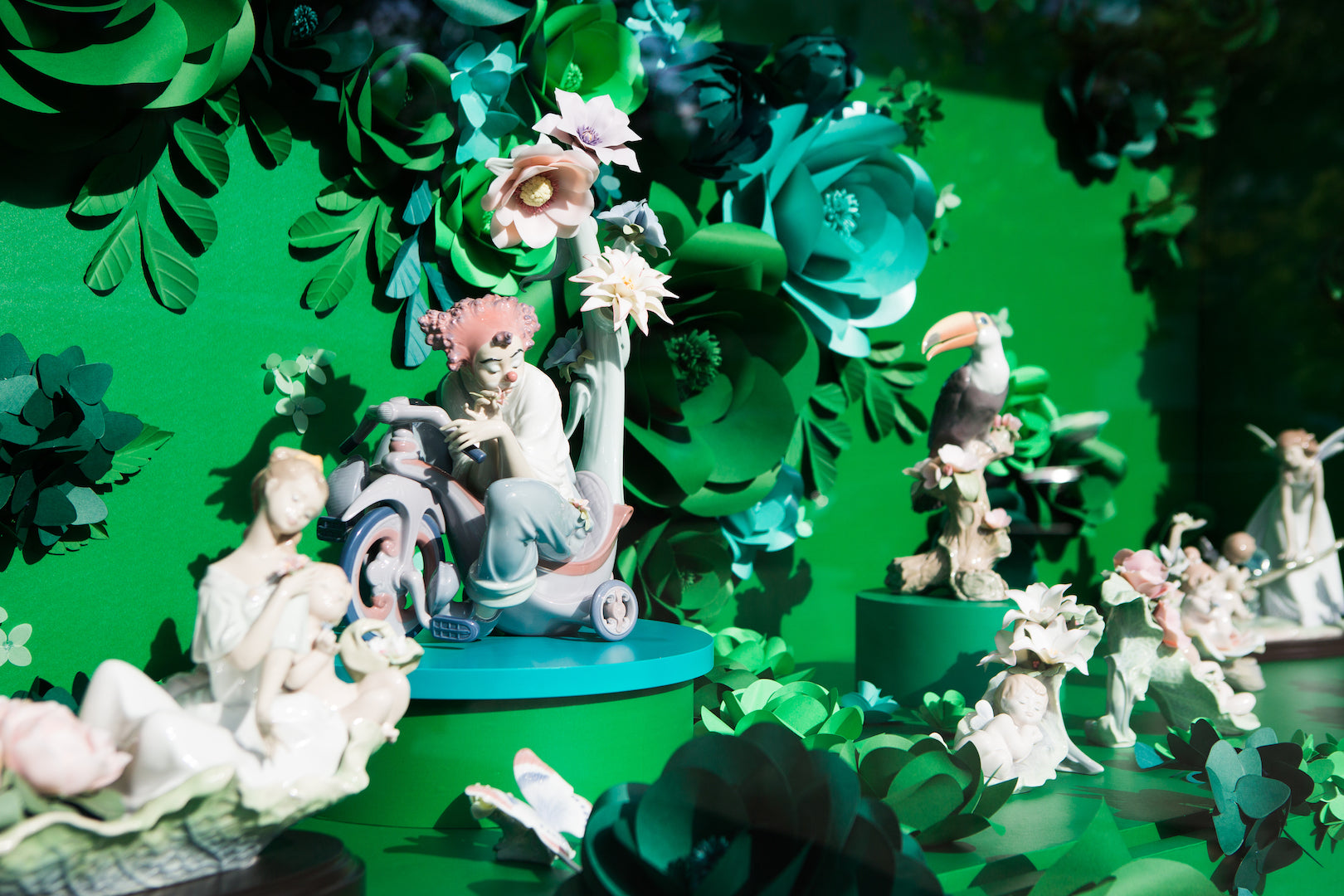 Window dressing for Lladro