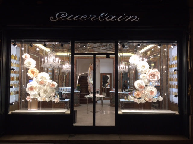 paper flowers for guerlain Milano