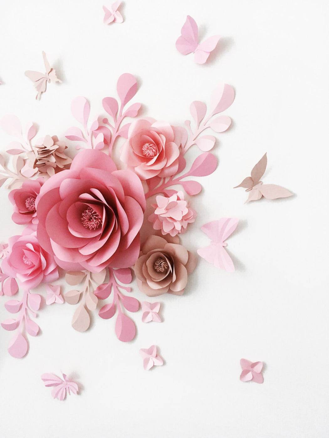 Baby Girl Room Decor - Paper Flower Decor for a Girl's room - Mio Gallery