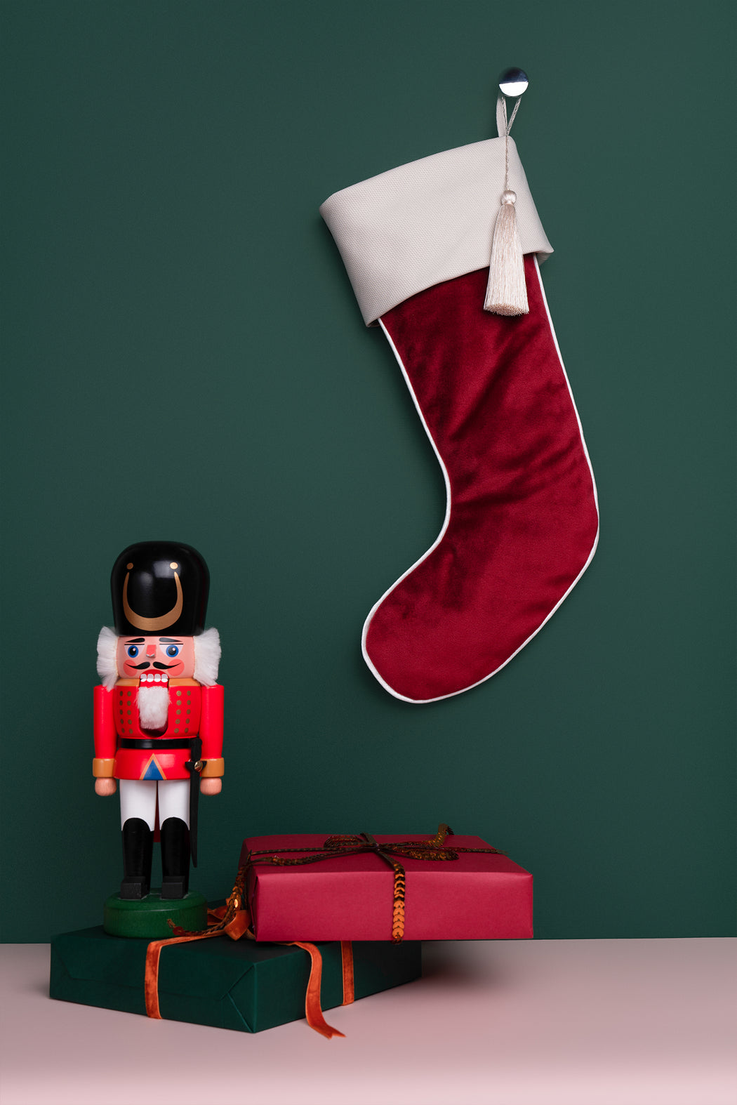 Custom listing for 5 Christmas Stockings with personalization