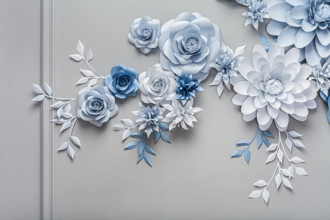 WEDDING PAPER FLOWER BACKDROP - PAPER FLOWER WALL - Mio Gallery