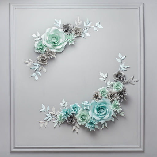 WEDDING PHOTO WALL WITH PAPER FLOWERS - PHOTO WALL IDEAS - Mio Gallery
